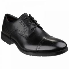 TOTAL MOTION CAP TOE Mens Leather Lace Shoes Black