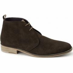 TAMAL Mens Suede Lace Up Chukka Boots Brown