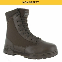 CLASSIC Unisex Non-Safety Leather Military Boots Brown