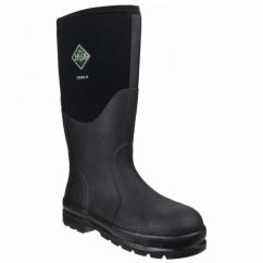 CHORE CLASSIC SAFETY Unisex Steel Toe Wellington Boots Black