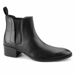GEORGE Mens Cuban Heel Chelsea Boots Black
