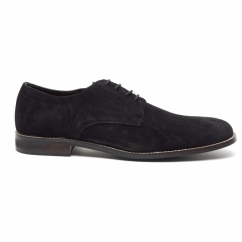 PRESTON Mens Suede Lace Up Desert Shoes Black