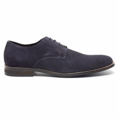 PRESTON Mens Suede Lace Up Desert Shoes Dark Blue