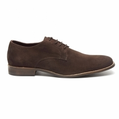PRESTON Mens Suede Lace Up Desert Shoes Brown/Coffee