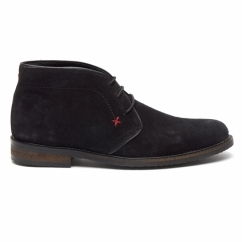 OSBORNE Mens Suede Lace Up Chukka Boots Black