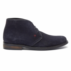 OSBORNE Mens Suede Lace Up Chukka Boots Dark Blue