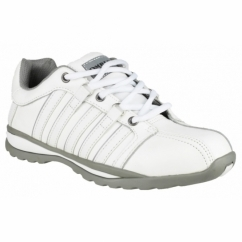 FS49 Unisex S1 Steel Safety Trainers White