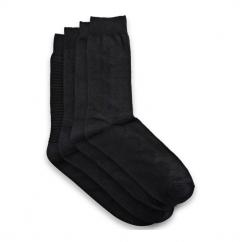JJ MIND Mens Socks 4 Pack Black