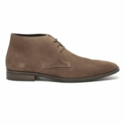 DUNN Mens Suede Lace Up Chukka Boots Cognac