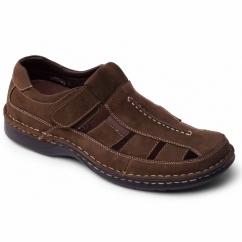 BREAKER Mens Nubuck Closed Sports Sandals Brown