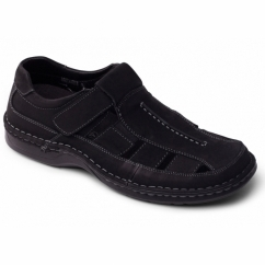 BREAKER Mens Nubuck Sports Sandals Black