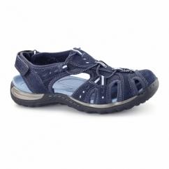TEXAS Ladies Leather Closed Sandals Blue