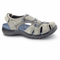 TEXAS Ladies Leather Closed Sandals Light Khaki