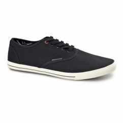 SPIDER Mens Canvas Trainers Anthracite Black