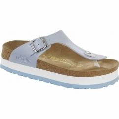GIZEH Ladies Platform Toe Post Sandals Graceful Blue