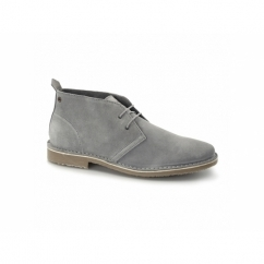 GOBI Mens Suede Leather Desert Boots Frost Grey