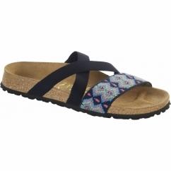 COSMA Ladies Stretch Flat Sandals Aztec Blue