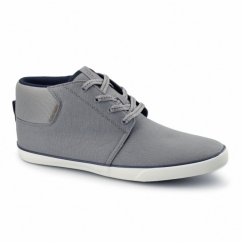 VERTIGO Mens Canvas Mid-Top Trainers Frost Grey