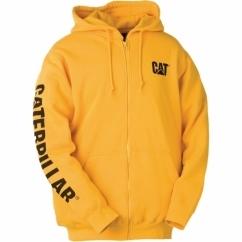 CW10840 Full Zipper Hooded Sweatshirt Yellow