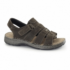 SURF Mens Leather Velcro Sports Sandals Brown