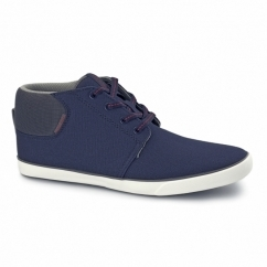 VERTIGO Mens Canvas Mid-Top Trainers Navy Blazer