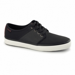 TURBO Mens Faux Soft Leather Trainers Anthracite
