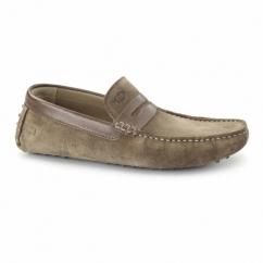 MORGAN Mens Suede Moccasin Shoes Tobacco