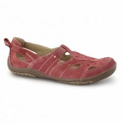LONG BEACH 2 Ladies Leather Sandal Shoes Red