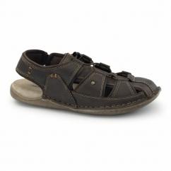 BERGEN GRADY Mens Leather Sports Sandals Brown