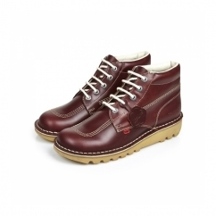 KICK HI Boys Leather Boots Dark Red