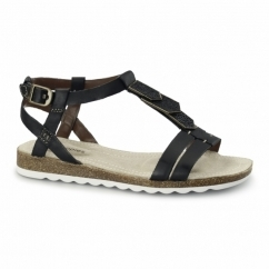 BRETTA JADE Ladies Flat Sandals Black