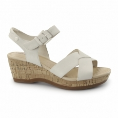 EVA FARRIS Ladies Wedge Sandals White