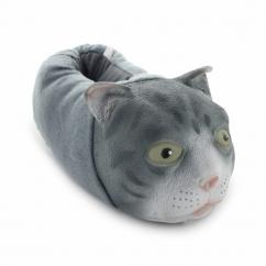 MANDY Unisex Novelty Cat Slippers Grey