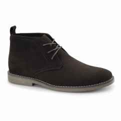 PANAMA Mens Faux Suede Desert Boots Brown