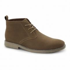 PANAMA Mens Faux Suede Desert Boots Tan