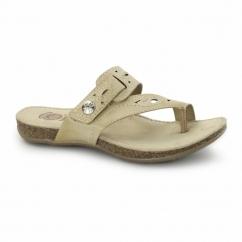 PHOENIX Ladies Leather Sandals Biscuit