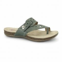 PHOENIX Ladies Leather Sandals Teal