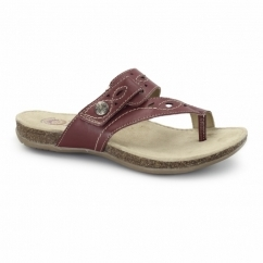 PHOENIX Ladies Leather Sandals Red