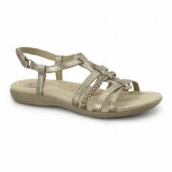 SCOTSDALE Ladies Braided Velcro Sandals Platinum