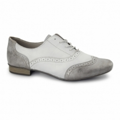 51933-40 Ladies Lace Up Shoes Grey