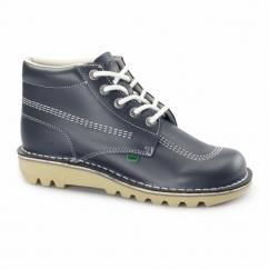 KICK HI Mens Leather Boots Navy