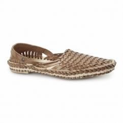 AZTEC WEAVE Mens Leather Woven Sandals Tan