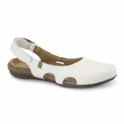 ND77 Ladies Vegan Slingback Sandals White