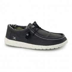 WALLY STRETCH Mens Wide Fit Shoes Black