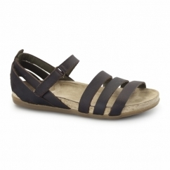 NF42 Ladies Leather Velcro Sandals Brown
