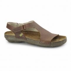 N309 Ladies Leather Slingback Sandals Wood