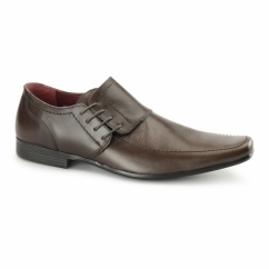 CHERWELL 2 Mens Leather Side Lace Shoes Brown