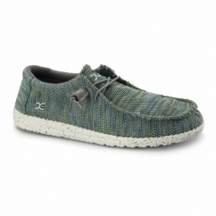 WALLY SOX Mens Relaxed Fit Shoes Green