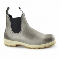 1434 Mens Leather Chelsea Boots Steel Rub