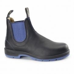 1403 Mens Leather Chelsea Boots Black Voltan